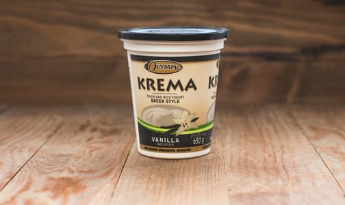Krema Greek Style Vanilla Yogurt - 11% MF- Code#: DY065