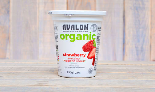 Organic Strawberry Yogurt - 2.6% MF- Code#: DY071