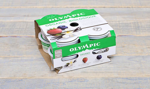 Organic Multi-Pack: 2 x Strawberry, 2 x Blueberry, 4 x French Vanilla, 2.8-3.2% MF- Code#: DY101