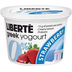 0% Fat Greek Strawberry Yogurt- Code#: DY3104