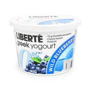 Greek Style Blueberry Yogurt 0% Fat- Code#: DY3106