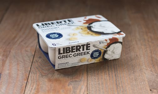 5% Fat Greek Yogurt Multipack - Banana Caramel- Code#: DY442