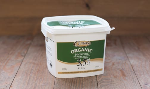Organic Plain Yogurt - 3.5% MF- Code#: DY700