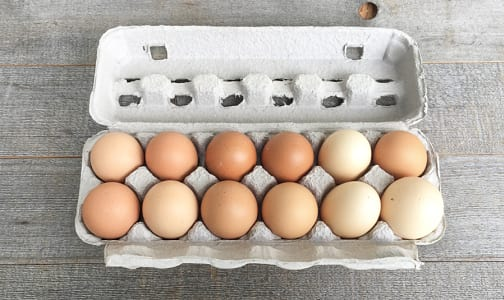 Organic Farm Fresh Free Range Eggs - Ungraded / Large- Code#: EG0140