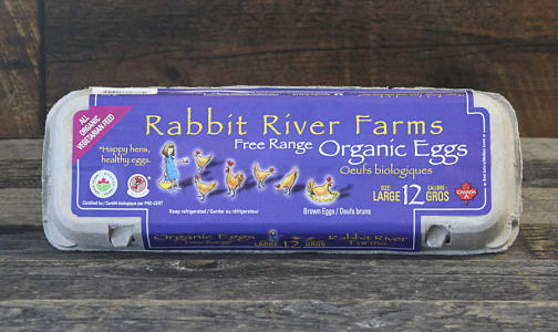Organic Rabbit River Eggs, Large (Certified)- Code#: EG105