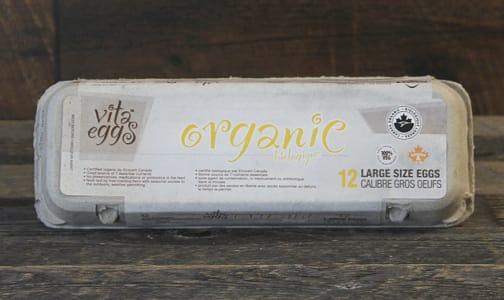 Organic Vita Eggs, Large- Code#: EG3200
