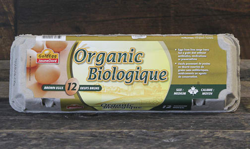 Organic Gold Egg - Medium- Code#: EG7000