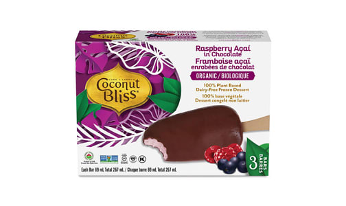 Organic Raspberry Acai in Chocolate (Frozen)- Code#: FD0069