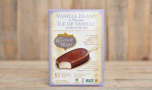 Organic Vanilla Island in Chocolate (Frozen)- Code#: FD0070