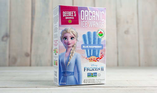 Organic Ice Wands - Elsa - Blue Raspberry (Frozen)- Code#: FD0075