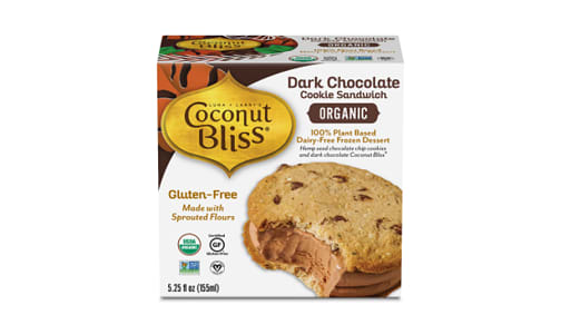Organic Dark Chocolate Cookie Sandwich (Frozen)- Code#: FD0082