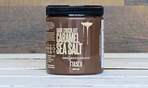 Dark Chocolate Caramel Sea Salt Gelato (Frozen)- Code#: FD3001
