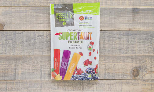 Organic Super Fruit Freezies   freeze-at-home juice bar - Code#: FD700