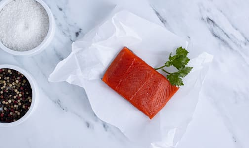 Ocean Wise & Wild Sockeye Salmon Portion - Skin On (Frozen)- Code#: FZ0187