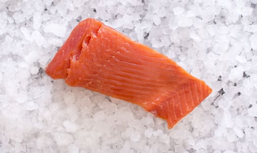 PINK Salmon Portions Skin OFF (Frozen)- Code#: MP0478