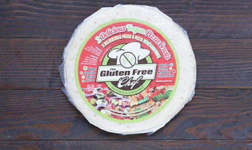 10  Vegan Pizza Crusts (Frozen)- Code#: FZ1601