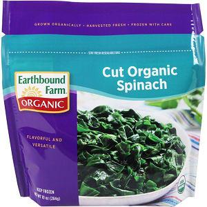 Organic Cut Spinach (Frozen)- Code#: FZ3004