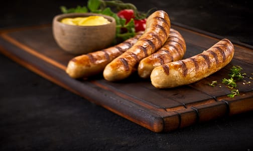 Beef & Cheddar Smokies (Frozen)- Code#: MP0588