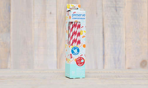 Compostable Straws - Red- Code#: HH0088