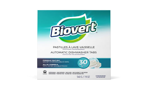 Automatic Dishwasher Tabs - Fragrance Free- Code#: HH025