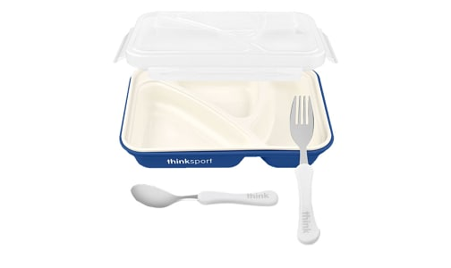 Airtight Lunch Container With Fork/Spoon - Dark Blue- Code#: HH0451