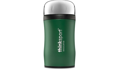 Insulated Food Container With Spork - Green- Code#: HH0475