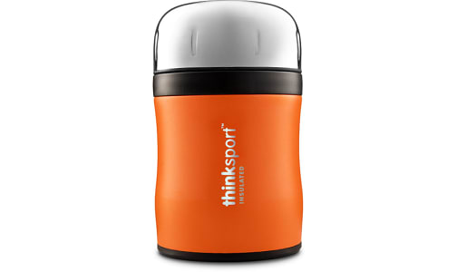 Insulated Food Container With Spork - Orange- Code#: HH0491