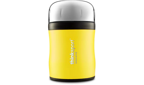 Insulated Food Container With Spork - Yellow- Code#: HH0492