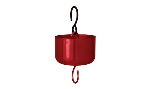 Polished Red Metal Ant Moat- Code#: HH0604