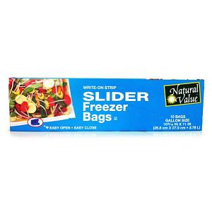 Freezer Bags w/Slider, Gallon Size- Code#: HH932