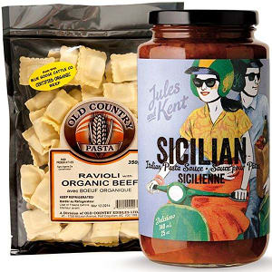Local Beef Ravioli Pasta Combo Ingredient Bundle- Code#: KIT1961