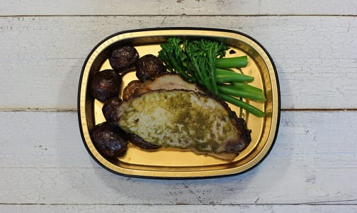 Mojo Pork Loin with Roasted Potatoes and Chili Glazed Broccolini- Code#: LL0087