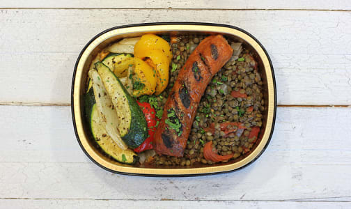 Beyond Meat Sausage Cassoulet with French Lentils, Roasted Vegetables- Code#: LL0089