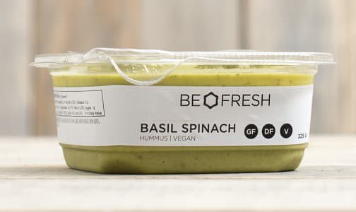 Spinach & Basil Be Fresh Signature House-made Hummus- Code#: LL211