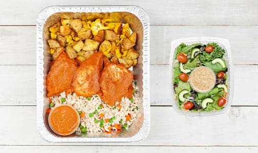 Butter Chicken with Turmeric Roasted Vegetables and Basmati Rice & Salad- Code#: LLK104