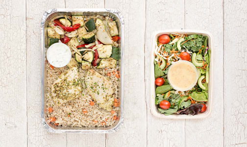 Dinner For 2 - Greek Chicken & Salad- Code#: LLK200