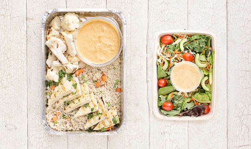 Dinner For 2 - Thai Tofu Coconut Curry & Salad- Code#: LLK206