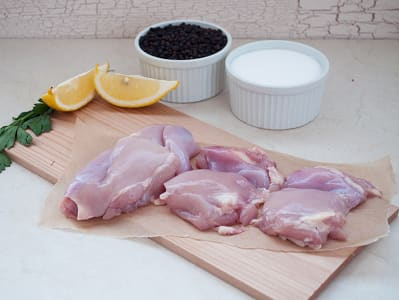 Organic Boneless Chicken Thighs 4 Pack/~400g (Frozen)- Code#: MP0336