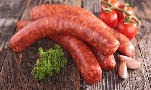 Beef and Cheddar Smokies 4 Pack (Frozen)- Code#: MP0588