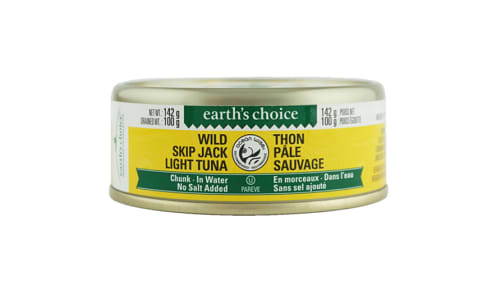 Wild Skipjack Chunk Tuna, No Salt- Code#: MP0686