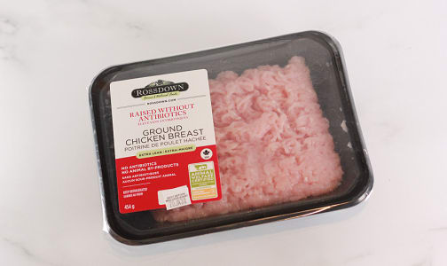 Ground Chicken Breast - Raised Without Antibiotics, Fresh- Code#: MP0794