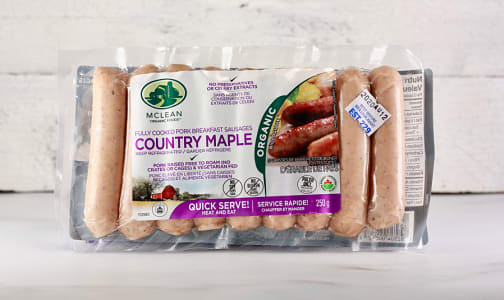 Organic Country Maple Breakfast Sausages- Code#: MP0821