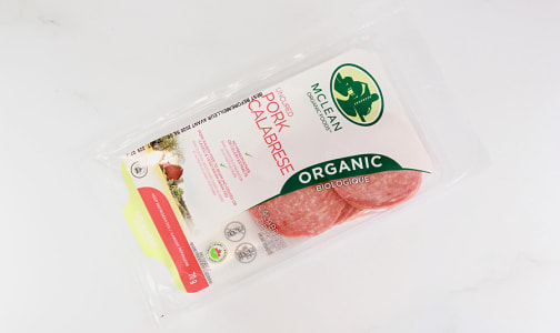 Organic Sliced Calabrese Salami- Code#: MP0838
