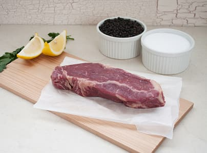 100% Grass-Fed New York Strip Loin - LIMITED AVAILABILITY (Frozen)- Code#: MP1015-NV