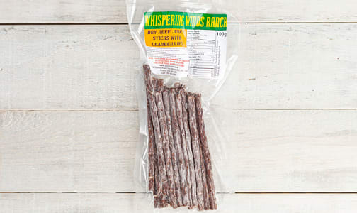 Dry Beef Jerky Sticks with Cranberries (Frozen)- Code#: MP1041