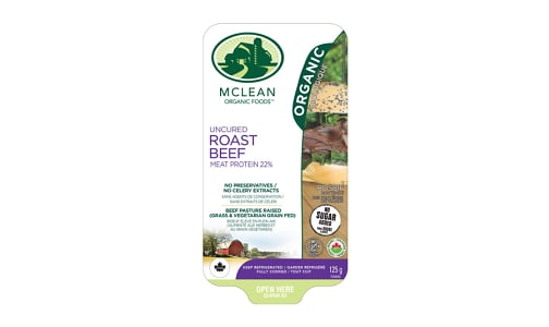 Organic Sliced Roast Beef- Code#: MP1043
