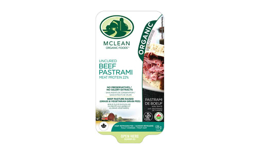 Organic Sliced Beef Pastrami- Code#: MP1044
