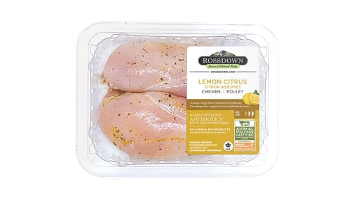 Lemon Citrus Marinade RWA Chicken Breast, Boneless, Skinless (Frozen)- Code#: MP1072