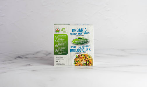 Organic Fully Cooked Turkey Meatballs (Frozen)- Code#: MP1083