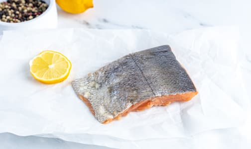 BC Wild Keta Salmon skin-on, Portion (Frozen)- Code#: MP1252